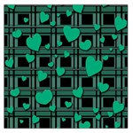 Green love Large Satin Scarf (Square)