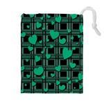 Green love Drawstring Pouches (Extra Large)