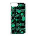 Green love Apple iPhone 7 Plus White Seamless Case