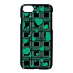 Green love Apple iPhone 7 Seamless Case (Black)