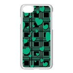 Green love Apple iPhone 7 Seamless Case (White)