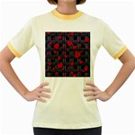 Decorative love Women s Fitted Ringer T-Shirts