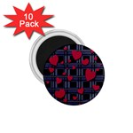 Decorative love 1.75  Magnets (10 pack)