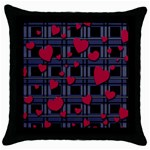 Decorative love Throw Pillow Case (Black)