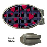 Decorative love Money Clips (Oval)