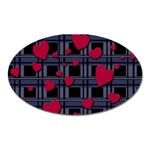 Decorative love Oval Magnet
