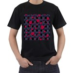 Decorative love Men s T-Shirt (Black) (Two Sided)