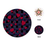 Decorative love Playing Cards (Round)