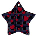 Decorative love Star Ornament (Two Sides)