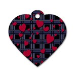 Decorative love Dog Tag Heart (One Side)