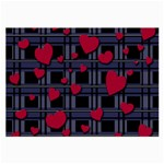 Decorative love Large Glasses Cloth (2-Side)