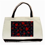 Decorative love Basic Tote Bag (Two Sides)