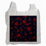 Decorative love Recycle Bag (Two Side)