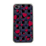 Decorative love Apple iPhone 4 Case (Clear)