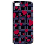 Decorative love Apple iPhone 4/4s Seamless Case (White)