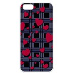Decorative love Apple iPhone 5 Seamless Case (White)