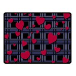 Decorative love Double Sided Fleece Blanket (Small)
