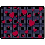 Decorative love Double Sided Fleece Blanket (Large)