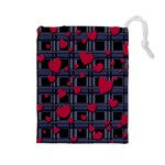 Decorative love Drawstring Pouches (Large)