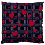 Decorative love Large Flano Cushion Case (Two Sides)