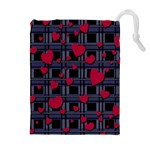 Decorative love Drawstring Pouches (Extra Large)