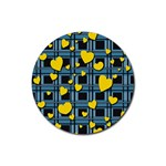 Love design Rubber Round Coaster (4 pack)