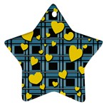 Love design Star Ornament (Two Sides)
