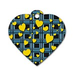 Love design Dog Tag Heart (Two Sides)