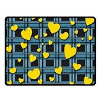 Love design Double Sided Fleece Blanket (Small)
