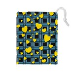 Love design Drawstring Pouches (Large)