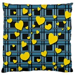 Love design Large Flano Cushion Case (One Side)