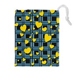 Love design Drawstring Pouches (Extra Large)