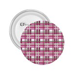 Pink plaid pattern 2.25  Buttons