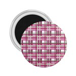 Pink plaid pattern 2.25  Magnets