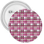 Pink plaid pattern 3  Buttons