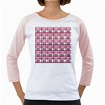 Pink plaid pattern Girly Raglans