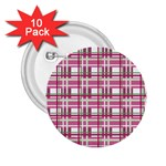 Pink plaid pattern 2.25  Buttons (10 pack)