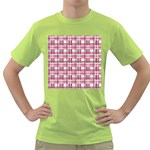 Pink plaid pattern Green T-Shirt