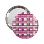 Pink plaid pattern 2.25  Handbag Mirrors