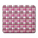 Pink plaid pattern Large Mousepads