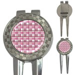 Pink plaid pattern 3-in-1 Golf Divots