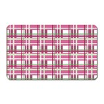 Pink plaid pattern Magnet (Rectangular)