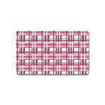 Pink plaid pattern Magnet (Name Card)