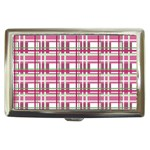 Pink plaid pattern Cigarette Money Cases
