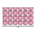 Pink plaid pattern Business Card Holders