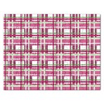 Pink plaid pattern Rectangular Jigsaw Puzzl