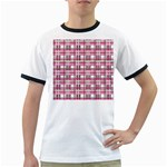 Pink plaid pattern Ringer T-Shirts