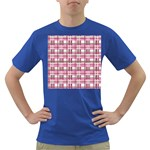 Pink plaid pattern Dark T-Shirt