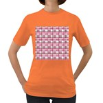 Pink plaid pattern Women s Dark T-Shirt
