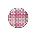 Pink plaid pattern Hat Clip Ball Marker (4 pack)